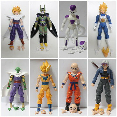 8x Dragonball Z Dragon ball DBZ Goku Piccolo Vegeta Trunks Action Figure Toy Set