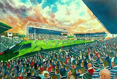 Welford Road Stadium Art A4 Print - Leicester Tigers RLFC