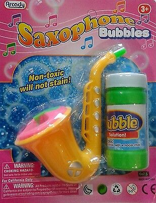 Saxophone Bubbles Blower outdoor summer Toy Fun