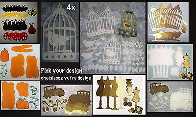 Cardstock Die cut shapes Tim holtz sizzix Pick your design