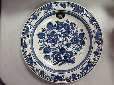 Vintage ~ Delft Blauw ~ Hand Painted ~ Wall Plate ~ Holland ~ Distel