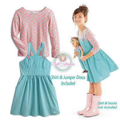 American Girl CL KITS SET CHEERY BLOSSOM TOP & JUMPER LARGE SIZE 14 for Girl NEW