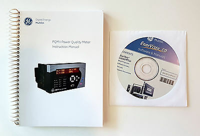 GE Multilin PQMII Power Quality Meter Book & EnerVista CD