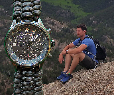NEW! Timex Expedition Tachymeter/Chronograph Watch w/ Paracord 550 Watch Band