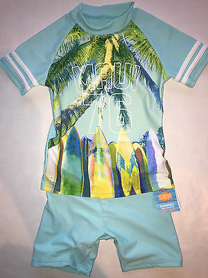 BNWT Next UV 50 Sunsuit Swimwear Boys Sunsafe Child SPF Beach Surf 2 Piece