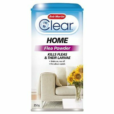Clear Flea Powder Home Flea Kill Powder 350g Shake on Vac off