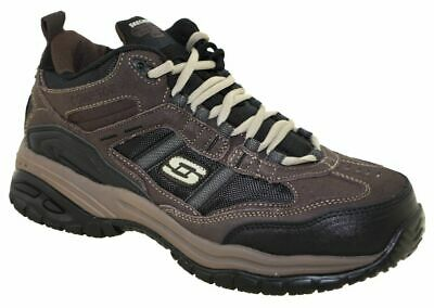 Skechers Men's Soft Stride Canopy Composite Toe Work Shoes Style 77027 BRBK