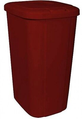 Hefty Touch Lid 13.3 Gallon Trash Can, Red