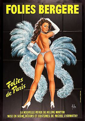 FOLIES BERGERE CineMasterpieces DANCING GIRL PARIS FRANCE POSTER SHOWGIRL BLUE