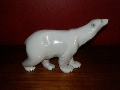 Vintage Mid Century Royal Dux Large Polar Bear Figurine