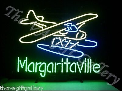Jimmy Buffet Margaritaville Neon Sign Bar Man Cave Plane Party Drink Music 18x12