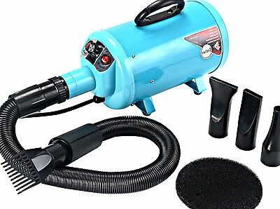 Dog & Cat Grooming Dryer Pet Mobile Electrodeless Care Supplies w/4 Nozzle New