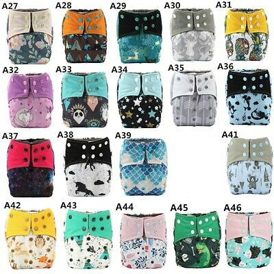3/lot U Pick ALL IN ONE AIO Reusable Baby Cloth Diaper Nappy Sew Insert Night