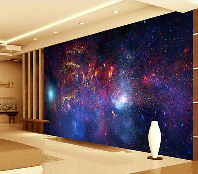 Galaxy Glowing Dust Clouds Full Wall Mural Photo Wallpaper Print Home 3D Decal