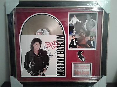 Michael Jackson Hand Signed LP Cover  (BAD)  W/C.O.A