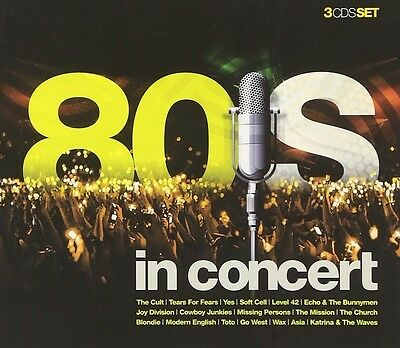 80'S IN CONCERT (Tears For Fears, Level 42, Blondie, Go West uvm.) CD NEU