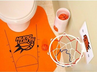 Slam Dunk N Flush - Novelty Toilet Basketball Set Great For Bachelor