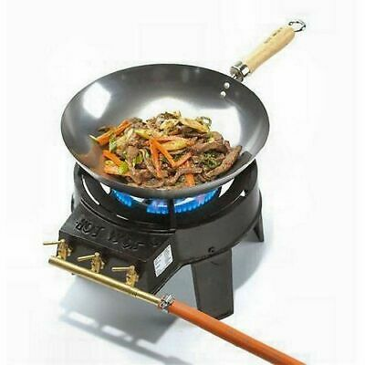 Hot Wok HW3711 Original Wok Set with Powerful 7 kWh Burner, Regulator and Hose