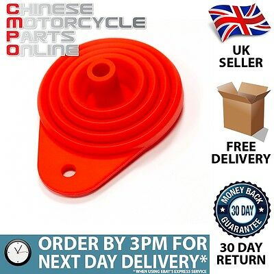 Lextek Motorcycle Foldable Silicone Funnel for Lexmoto ZSB 125