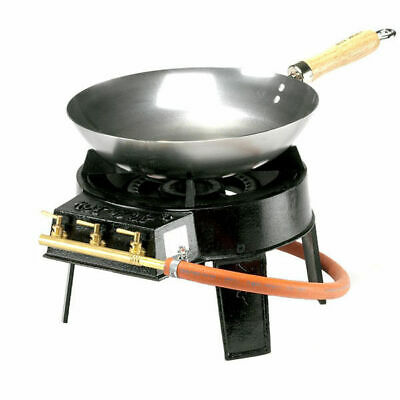 Hot Wok HW3812 Original Wok Set with High Power 12 kWh Burner Regulator and Hose