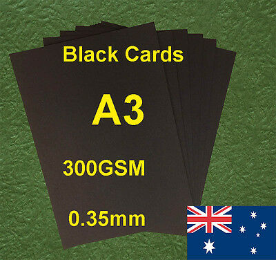 120 X A3 Black Paper Card Board 300GSM 0.35mm For Craft Invitation  Card