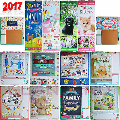 2017 Family Organiser Planner Memo Pads, Pen & Shopping List Home Calendar Gift