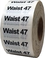 Waist 47 Clothing Size Stickers for Pants