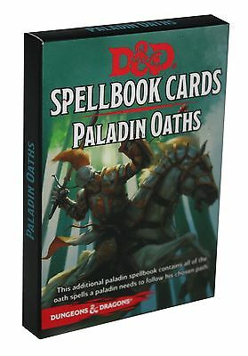 Dungeons & Dragons-D&D-SPELLBOOK CARDS-PALADIN- 24 Cards-Deck-RPG-engl.-new-rare