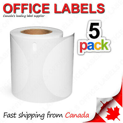 "5 Rolls of 30854 Compatible CD/DVD Labels for DYMO® 2-1/4"" diameter"