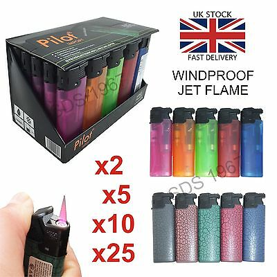 Pilot Windproof Jet Flame Refillable Turbo Electronic Lighter Child Safety Uk