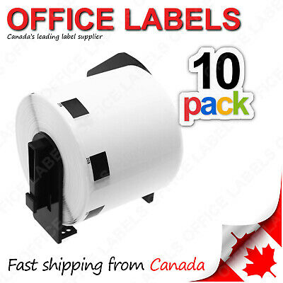 """10 Rolls of DK-1209 Compatible Labels for BROTHER® QL Printer 1-1/7"""" x 2-3/7"""""""
