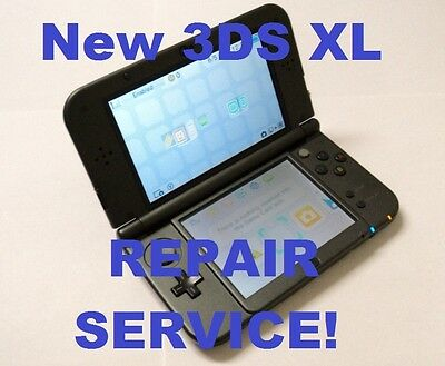 AS IS Broken Nintendo New 3DS XL 2015 Model System Fix/Repair Service!