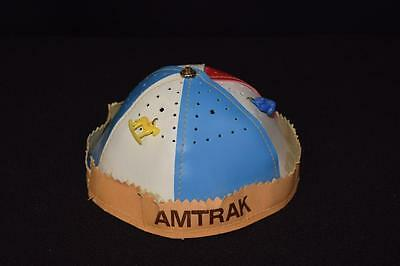 Vintage AMTRAK Train Cap Hat Kids Beanie With Charms