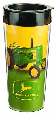 John Deere 16oz. Plastic Travel Mug