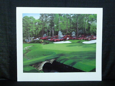Danny Day Hole #13 At Augusta Masters Golf Lithograph