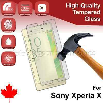 Premium Tempered Glass Screen Protector for Sony Xperia X from Canada