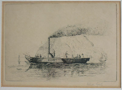 William Lyall engraving of 'The Comet' on maiden voyage on the Clyde.