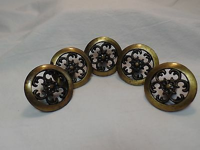 5 Piece Vintage Ajax  Drawer Pulls