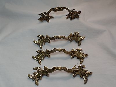 4 Piece Vintage Antique Ajax 119 Frensh Style Drawer Pulls