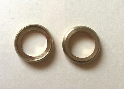 """LOT OF 2: SOLID BRASS TURNED 1/2"""" CHECK RING Seating Ring Burnished & Lacquered"""
