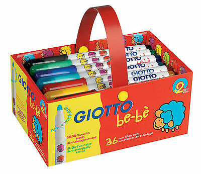 Giotto Be-be Super Fibre Pens-Pack of 36-PRICE REDUCED