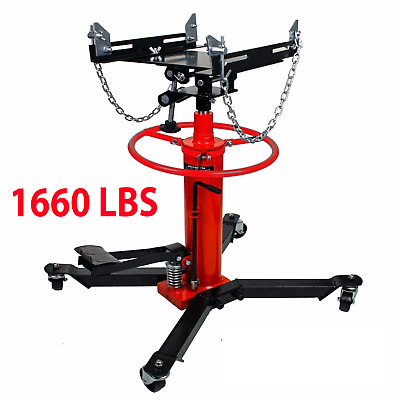 1660lbs Transmission Jack 2 Stage Hydraulic w/ 360° for car lift auto lift