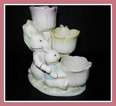 New Lenox Occasions Easter Tulip Triple Decorative-Tea Light Holder