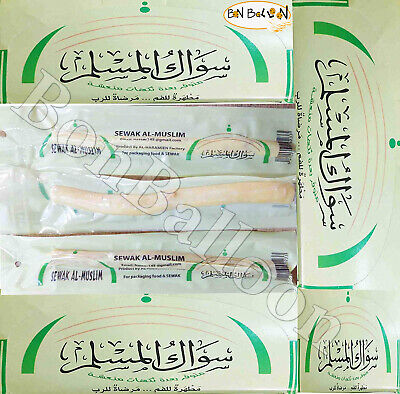20 Pcs Sewak Miswak siwak Natural Herbal Toothbrush islamic stick Fresh 100% 374