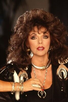 "JOAN COLLINS - 12"" x 8"" Colour Portrait Photo From a series taken in 1988  #2014"
