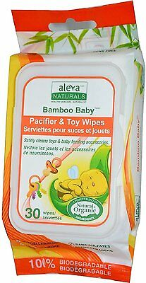 Bamboo Baby Pacifier & Toy Wipes, Aleva Naturals, 30 wipes