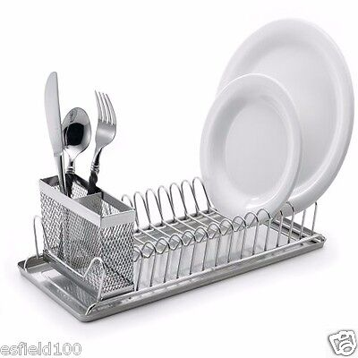 CLEARANCE SALE ! ! NEW Stainless Steel Dish Rack Tray Cutlery Kitchen Organizer