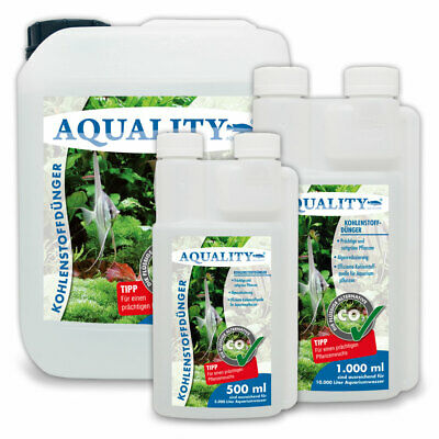 (19,00€/l) AQUALITY CO2 Kohlenstoffdünger Carbo Pflanzendünger Aquarium 500ml