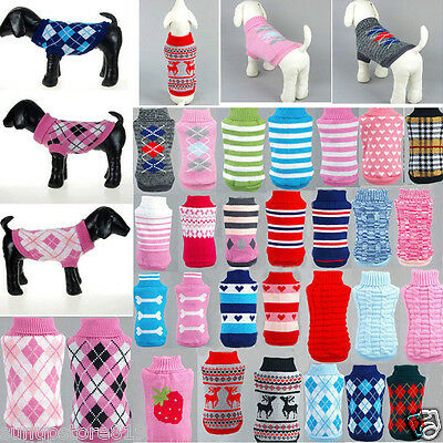 Various Pet Dog Sweater Puppy Knit Clothes Coat Apparel Fit For Small Medium Dog