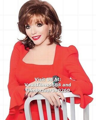 """JOAN COLLINS - 10"""" x 8"""" Colour Photo 'JOAN COLLINS WIG COLLECTION' #1853"""
